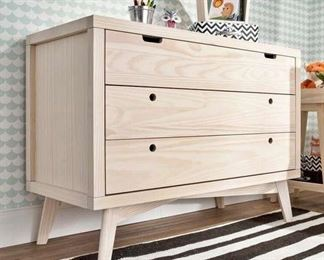 Mistana Natural Washed Torrey Retro 3 Drawer Dresser