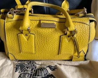 Burberry handbag with dust cover - $400 or best offer