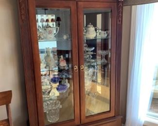 """Ethan Allen curio cabinet (47""""W x 14.5""""D x 83""""T) - $1400 or best offer"""