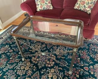 """Glass top coffee table (37""""W x 23""""D x 23""""T) - $125 or best offer"""