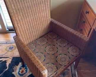 """Ethan Allen armchair (24""""W x 22""""D x 38""""T) - $200 or best offer"""