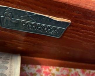 "Vintage dresser with mirror (53""W x 20.5""D x 34""T) - $150 or best offer"