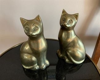 """Weighted brass cat decor (8""""T) - $25/each or best offer"""