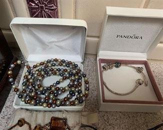 Pandora bracelet – $45 or best offer, Necklace - $15 or best offer