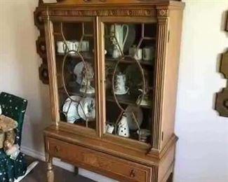 Antique Berkey & Gay display cabinet- made in Grand Rapids, MI-approximate 1910
