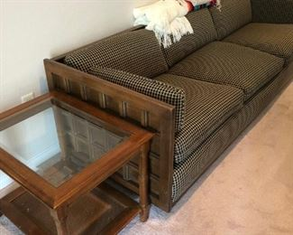 Living room couch, end tables and matching