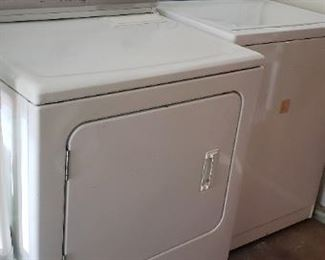 washer and gas dryer, works great