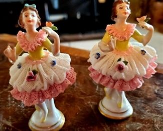 $20 each - Twin Ballerina Dresden Figurines