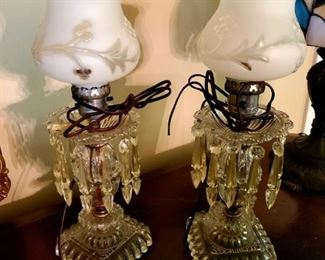 $50 - Glass Lamp Set