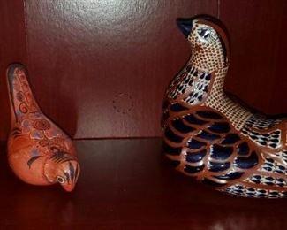 $20 (L) & $10 each (s) - Birds - Mexican Pottery