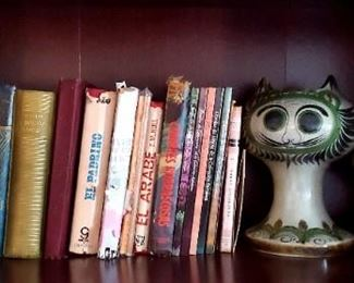 Prices vary on BOOKS!!!  $40 - set of Cats Mexican Pottery Art
