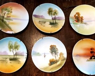 $10 each or $50 set - Nippon China - Hand Painted Plates