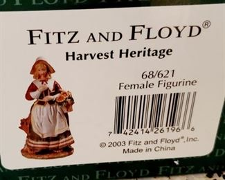 SOLD- Fitz & Floyd - Harvest Heritage (Female)