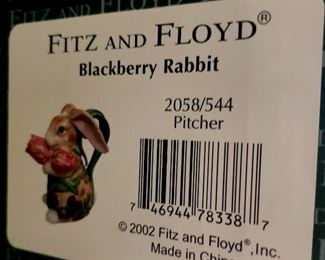 SOLD-Fitz & Floyd - Blackberry Rabbit