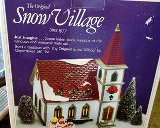Snow Village - Shady Oak Church