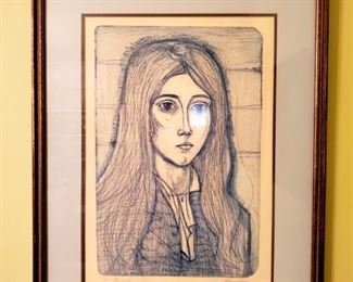 $100 - Art signed 65/200 Nancy  Amen