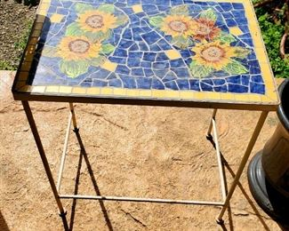 $50 - Sunflower Mosaic Table