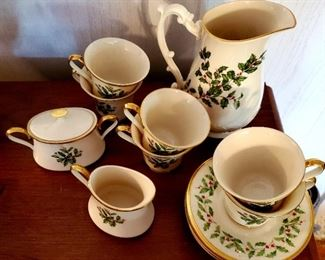 $150- Lenox Holiday Tea Set for Six
