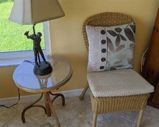 Lamp SOLD - Table $30 - Chair $20