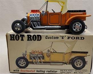 Vintage Alps Toys Hot Rod Custom T Ford Car