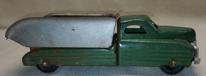 Vintage Green Buddy L Toys Metal Dump Truck