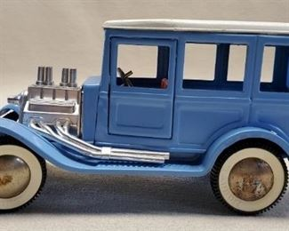 Vintage Buddy L Toys Blue Wagon Metal Truck