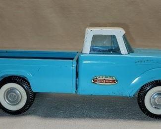 Vintage Aqua Blue Twin Beam Ford 100 Metal Truck