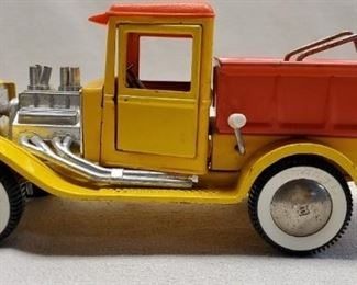 Vintage Buddy L Toys Yellow Metal Dump Truck