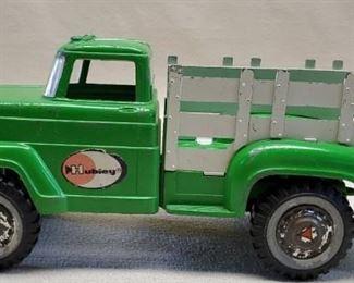 Vintage Lime Green Hubley Metal Work Truck
