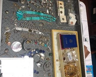 Turquoise, silver, Gold and diamond jewelry