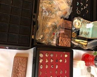 Fine jewelry and copper bars