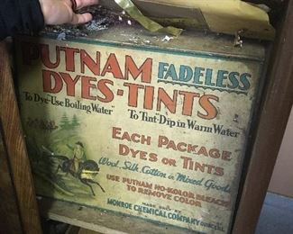 Antique Putnam Advertising Dye Box. Just one of the Many Treasures to be discovered!!!