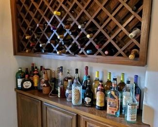 1002: Misc Bottles Of Alcohol Beverages