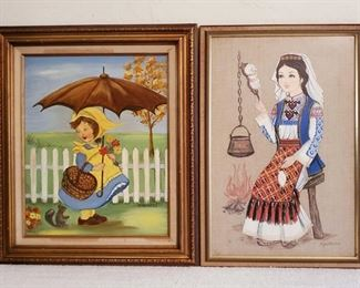 1058: 2 Paintings Signed Appears to be signed by Crothers, and other unknown. Measures Approx 22×26- 18×26