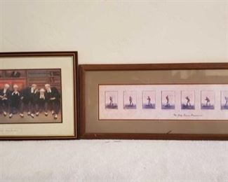 1063: Dock Brief-Nine Pleaders, The Gols Swing Progession Picture Frames Measures Approx 17×28, 14×20