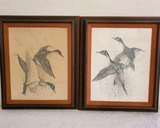 1065: 2 Charles E Murphy Framed Art Work Measures Approx 26×22