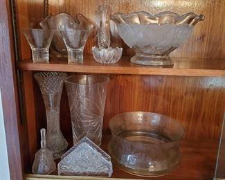1502: Glass Vases, Bowls, Napkin Holder and More Glass Vases, Bowls, Napkin Holder and More