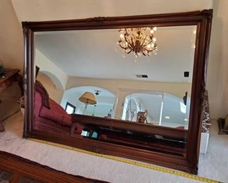 """1522: Large Wall Mirror Measures approx 44""""x66"""""""