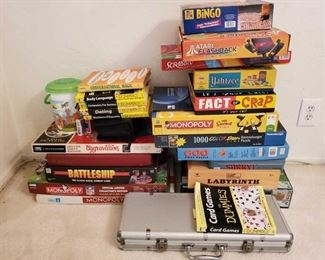 1076: Board Games and More! Games Include Monopoly, Scramble, Battleship, Aggravation, Atari Flashback, Yahtzee, Sorry and More!