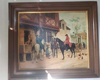 Framed Painted Artwork Artists Unknown, Measures Approx 25×30