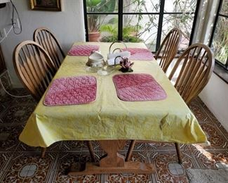 """Dining Room Table With 4 Chairs Dining Room Table Measures Approx 60""""(L)×29""""(H)×35""""(W)"""