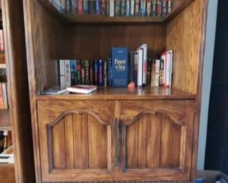 """Wooden Bookshelf with Books Measures approx 31"""" x 18"""" x 76"""""""