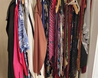 Ties, Men's Shirts and Jackets Shirts are size large, london fog jacket is 44 short