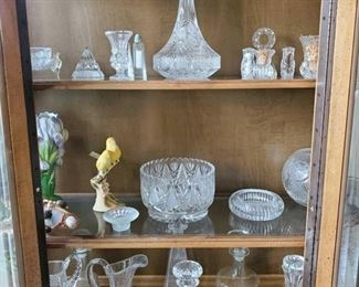 Glass Decanters, Pitchers, Ash tray, Decorative Bowls and More Some glass, others may be crystal
