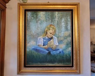 """Signed Framed Painting Artist unknown Measures approx 27""""x31""""Signed Framed Painting Artist unknown Measures approx 27""""x31"""""""