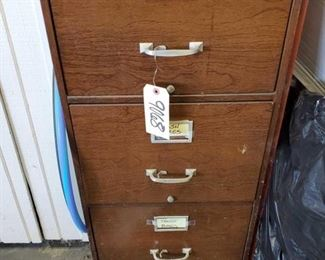 """File Cabinet with Trash Bags measures approx 18""""x28""""x41"""""""