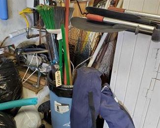 Foldable Chairs, Brooms, Large Fishing Nets, Rake, Shovel and more!