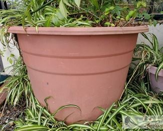 3 Planters measures approx 32x24, 21x18 and 17x18