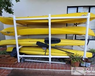 Only Kayaks 2 of the 4 are Selling.. The doubles are selling not singles Four Kayaks - CompetitionCK and Hobie