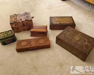 6 Jewelry Boxes